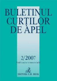 Buletinul Curtilor de Apel Nr.2/2007 - Pena Adriana