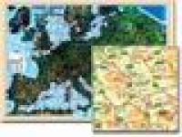 Europa - coduri postale laminata (scara 1:3.500.000) -