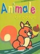 Animale din padure- carte cu abtibilduri si poze - ***