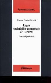 Legea societatilor comerciale nr. 31/1990 - Simona Petrina Gavrila