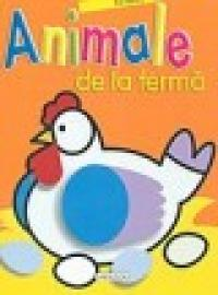Animale de la ferma- carte cu abtibilduri si poze - ***