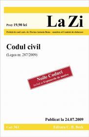 Codul civil (Legea 287/2009). Publicat la 24.07.2009. Cod 361 - Prefata de conf. univ. dr. Flavius-Antoniu Baias, membru al Comisiei de elaborare