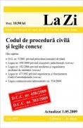 Codul de procedura civila si legile conexe (actualizat la 01.05.2009; GRATUIT - modificarile aduse C.proc.civ. prin O.U.G. 42/2009 - M.Of. 324/15.05.2009). Cod 351 - Editie coordonata de conf. univ. dr. Flavius-Antoniu Baias
