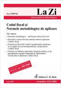 Codul fiscal si normele metodologice de aplicare (actualizat la 15.01.2009; GRATUIT - modificarile aduse pana la 10.05.2009). Cod 342 - Editie ingrijita de Mihai Bragaru