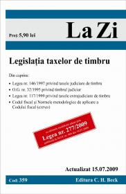 Legislatia taxelor de timbru (actualizat la 15.07.2009). Cod 359 - Paul Stewart, Chriss Riddell